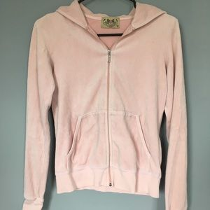 Juicy Couture Dusty Pink Velour Jacket